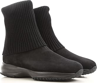 Boots for Women, Booties On Sale, Grey, Leather, 2017, 8.5 Hogan