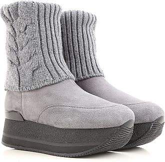 Boots for Women, Booties On Sale, Tar, Suede leather, 2017, 3.5 Hogan