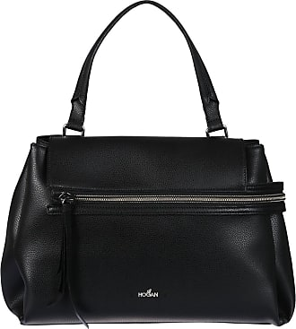 Hogan Clubbing black hammered leather bag