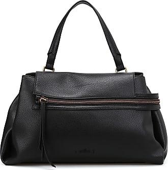 Hogan Leather piping canvas shopping bag