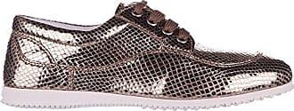 Hogan Damenschuhe Leder Damen Business Schuhe Schnürschuhe h258 Derby Gold EU 38.5 HXW2580R490BV6C803