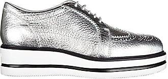 Hogan Damenschuhe Leder Damen Business Schuhe Schnürschuhe h323 zeppa derby Silber EU 36.5 HXW3230X670ES9B200