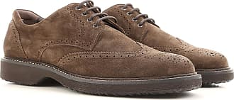 Lace Up Shoes for Men Oxfords, Derbies and Brogues, Beaver Brown, Suede leather, 2017, 6 8 Hogan