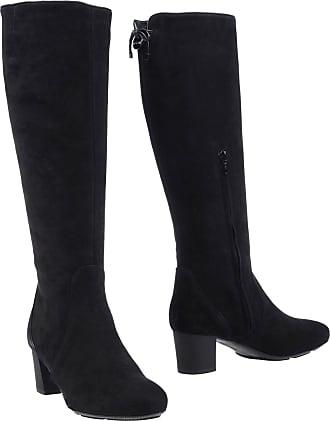 Hogan Woman Embellished Leather Knee Boots Black Size 35.5 Hogan