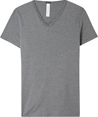 T-shirt près du corps col V Gris HomHOM