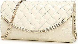 Damen Damen Umschlag Handtasche Abendtasche Braut Hochzeit Tasche Handtasche Prom Tasche,Black-26.5*3*15.5cm Hope