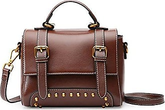 Womens Red Handtasche Großraum-Soft-Leder Schultertasche Damen Portable Office Bag Totes Top Griff Satchel,Black-37*13*20cm Hope