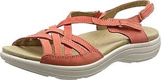 Flare - Sandalias con Punta Abierta Mujer, Color Rosa, Talla 42 Hotter