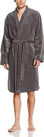 Robe de Chambre Fourrure, Bata para Hombre, Gris (Acier), Large Arthur