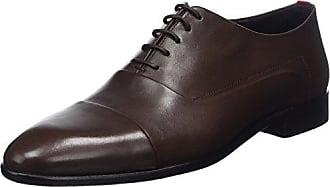 Hugo Appeal_oxfr_bo, Zapatos de Cordones Oxford para Hombre, Rojo (Dark Red), 42.5 EU