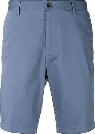 HUGO BOSS Rigan Garment-dyed Linen Shorts - Blue