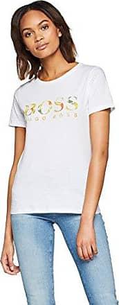 HUGO BOSS Tiboss, Camiseta para Mujer, Plateado (Silver 040), Medium