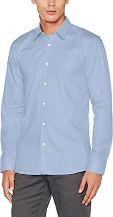 Elisha01, Camisa Manga Larga para Hombre, Negro (Black 001), Large (Talla del Fabricante: 44) HUGO BOSS