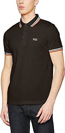Paddy, Polo para Hombre, Negro (Charcoal 011), Small HUGO BOSS