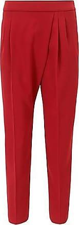 Relaxed-Fit Hose aus Krepp in Cropped-Länge mit asymmetrischer Falte BOSS