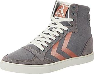 hummel SL. Stadil Herringbone High, Sneakers Hautes Femme, Gris (Frost Grey), 40 EU