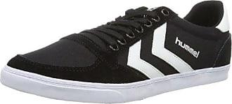 Hummel SLIMMER STADIL LOW, Sneaker, Uomo, Nero (BLACK/WHITE), 47