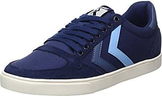 Hummel Slimmer Stadil Duo Canvas Low, Zapatillas Unisex Adulto, Blau (Peacoat/Vintage Indigo), 46 EU