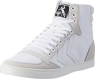 Hummel Slimmer Stadil High - Sneaker a collo alto Unisex Adulto, Grigio (Castle Rock/White Kh 2651), 45 EU