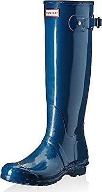 Hunter Damen Wmn ORG Tall Gloss Gummistiefel, Blau, 36 EU