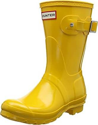 Hunter Wellington Boots, Bottes Classiques Femme, Jaune (Yellow/Ryl), 42 EU