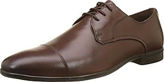 Hush Puppies H1392216W - Zapatos de cordones de cuero para hombre, color marrón, talla 45.5