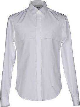 split sleeve mandarin collar shirt - White Hussein Chalayan