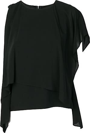 Chalayan Woman Cape-back Crepe Dress Black Size 42 Hussein Chalayan