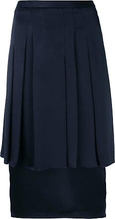 Chalayan Woman Flared Scuba-modal Skirt Brick Size 36 Hussein Chalayan