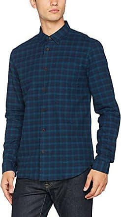 Hymn Brush Twill, Camisa Casual para Hombre, Azul (Blue Blue), Small HYMN London