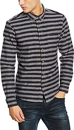 Bert, Camisa Casual para Hombre, Azul (Indigo), Medium HYMN London