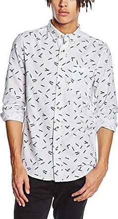 Scruff, Camisa para Hombre, Blanco (White), Large HYMN London