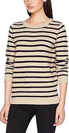 Ichi Mercuna LS2, Jersey para Mujer, Beige (MLG Dark Feather Gray 10082), 40(Talladelfabricante:M)