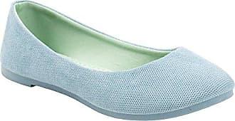 PDX/Damen Schuhe/Stoff flach Ferse Ballerinas Kleid/Casual Schwarz/Weiß/Beige, - white-us6 / eu36 / uk4 / cn36 - Größe: One Size