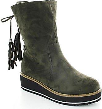 Ideal Shoes, Damen Stiefel & Stiefeletten , Schwarz - schwarz - Größe: 37