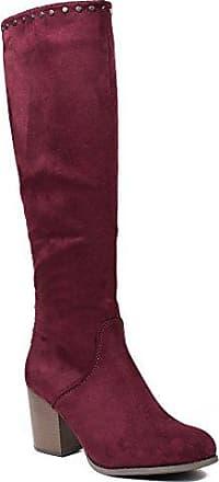 Ideal Shoes, Damen Stiefel & Stiefeletten , Rot - rot - Größe: 38