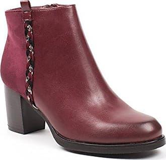 Ideal Shoes, Damen Stiefel & Stiefeletten , rot - rot - Größe: 40