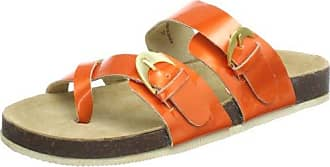 Ilse Jacobsen Damen Lack Sandalen flach CHEERFUL71, Orange (Orange (34) 34), EU 41