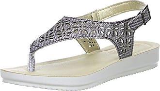 inblu Damen Zehentrenner silber, Größe:35;Farbe:Silber