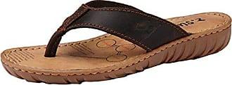 Insun Damen Sandalen Zehentrenner Normal Flach Ohne Verschluss Pantoletten Sandaletten Hellbraun 37