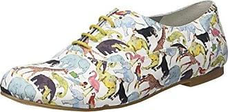 Ippon Vintage Zoom-Zoo, Zapatos de Cordones Derby para Mujer, Amarillo (Jaune Jaune), 36 EU