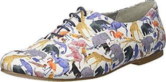 Ippon Vintage Andy-PERFO1, Zapatos de Cordones Derby para Mujer, Blanco (Blanc Blanc), 41 EU