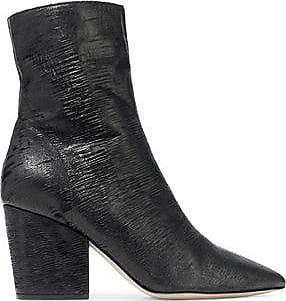 Iro Woman Metallic Sliced Leather Ankle Boots Silver Size 37 Iro