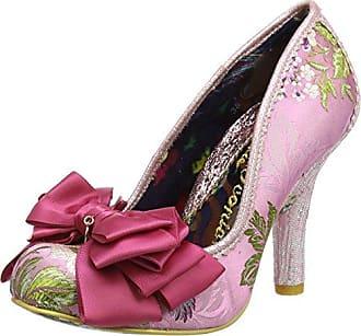 Irregular Choice Ascot Zapatos de Tacón con Punta Cerrada Mujer, Plateado (Silver/Gold), 42 (8 UK)