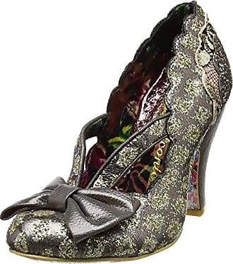 Irregular Choice 3009-23 - Zapatos de Tacón con Punta Cerrada de Tela Mujer, Color Verde, Talla 36
