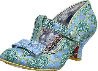 Irregular Choice Lazy River, Zapatos con Tacon y Tira Vertical para Mujer, Blue (Blue/Gold), 41 EU