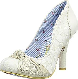 Irregular Choice Lazy River, Zapatos con Tacon y Tira Vertical para Mujer, Rosa (Rosa/Blanco), 40 EU
