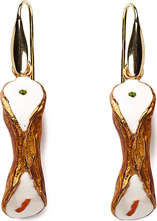 Isola Bella Gioielli Earrings for Women, Gold, Silk, 2017, One Size
