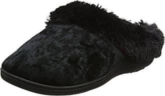Isotoner Fur Mule with Ribbon Slippers, Pantuflas para Mujer, Morado (Purple), 39 EU