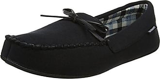 Mens Stripe Moccasin Low-Top Slippers Isotoner